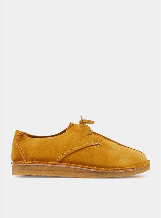 Tobacco Suede Centre Seam Caden Shoes