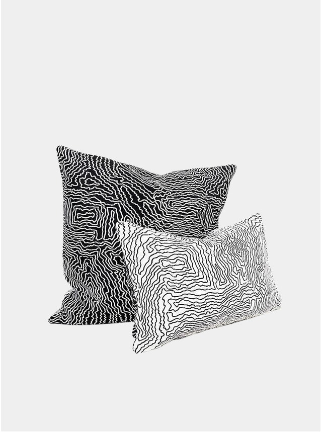 Black / White Earth Cushions by Du Pasquier & Sowden